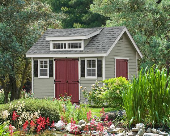 gardens admirable and small traditional garden shed ideas also grey wooden wall color also indian red barn door style also traditional windows design also