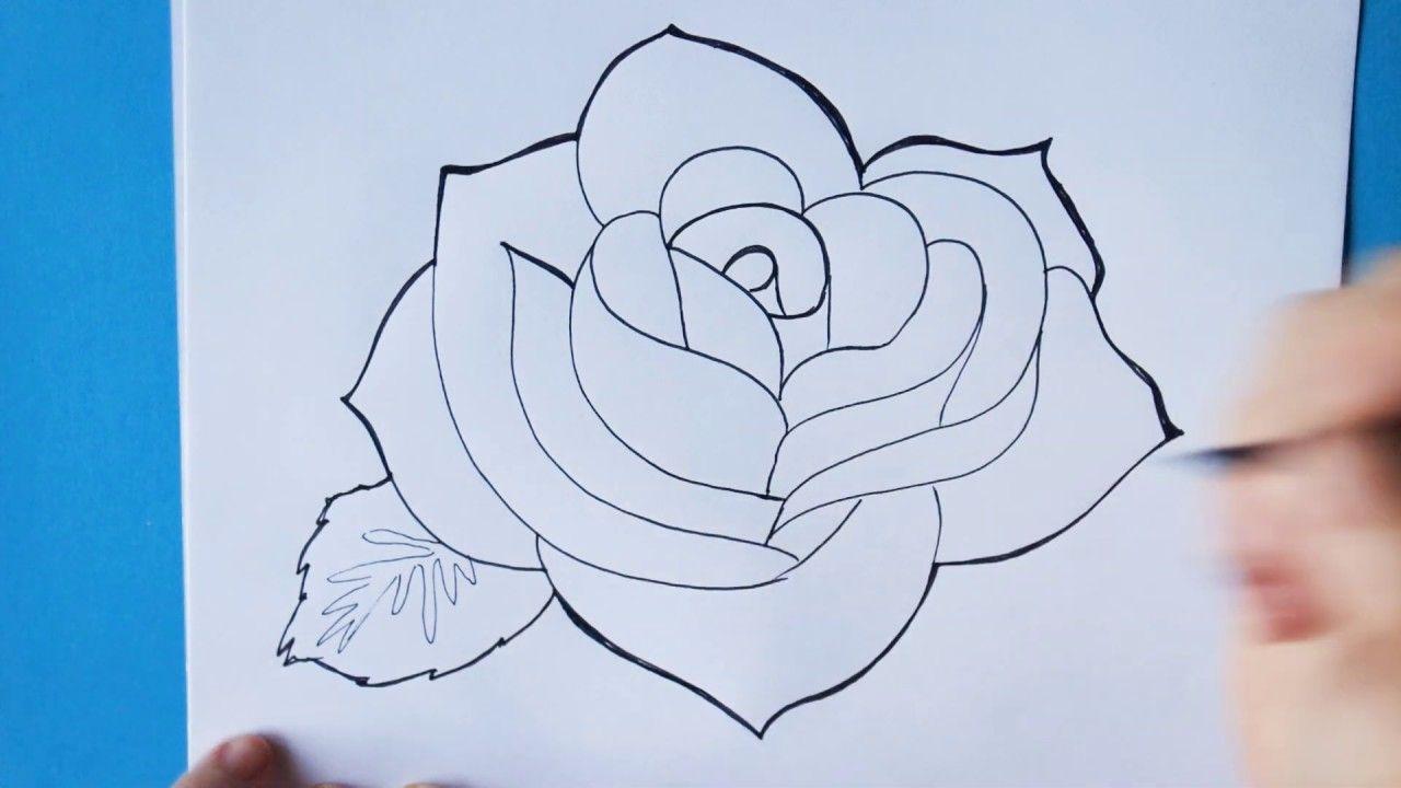 Hoe Teken Je Een Roos Stap Voor Stap Voor Beginners Youtube Abstracte Kleurplaten Bloemen Tekenen Tekening Van Een Roos