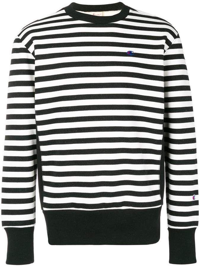 b5b068dbbdde Champion embroidered logo striped sweatshirt in 2019   Products ...