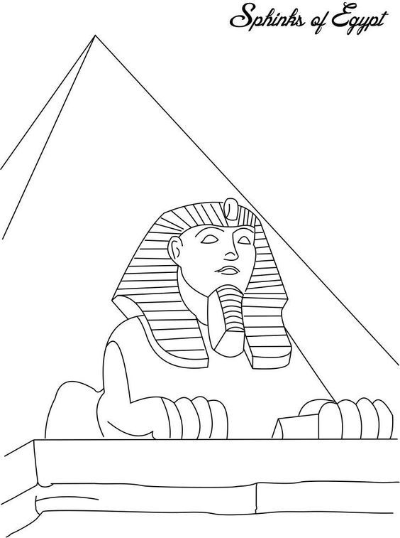 Ancient egypt coloring pages to download and print for