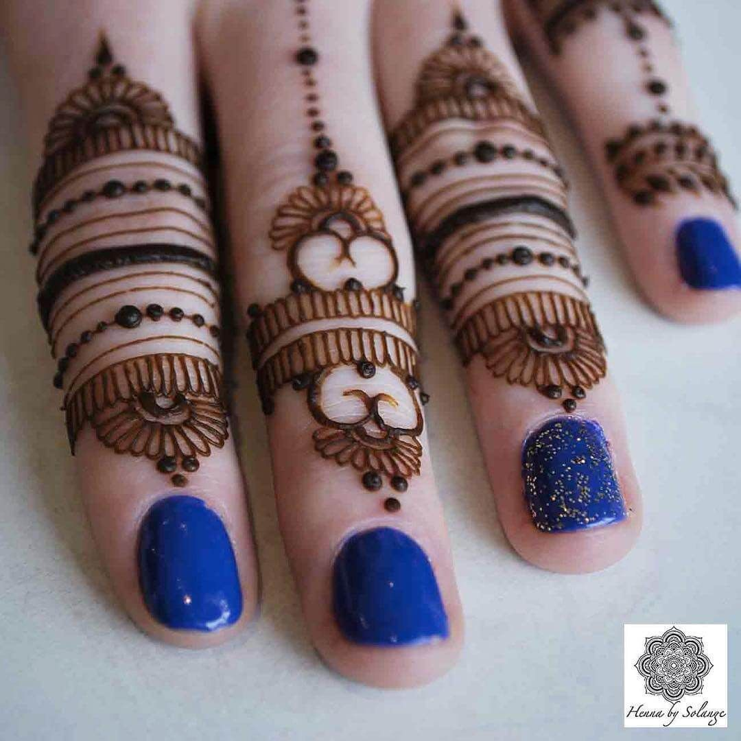 Mehndi design for finger For More You Can Follow On Insta