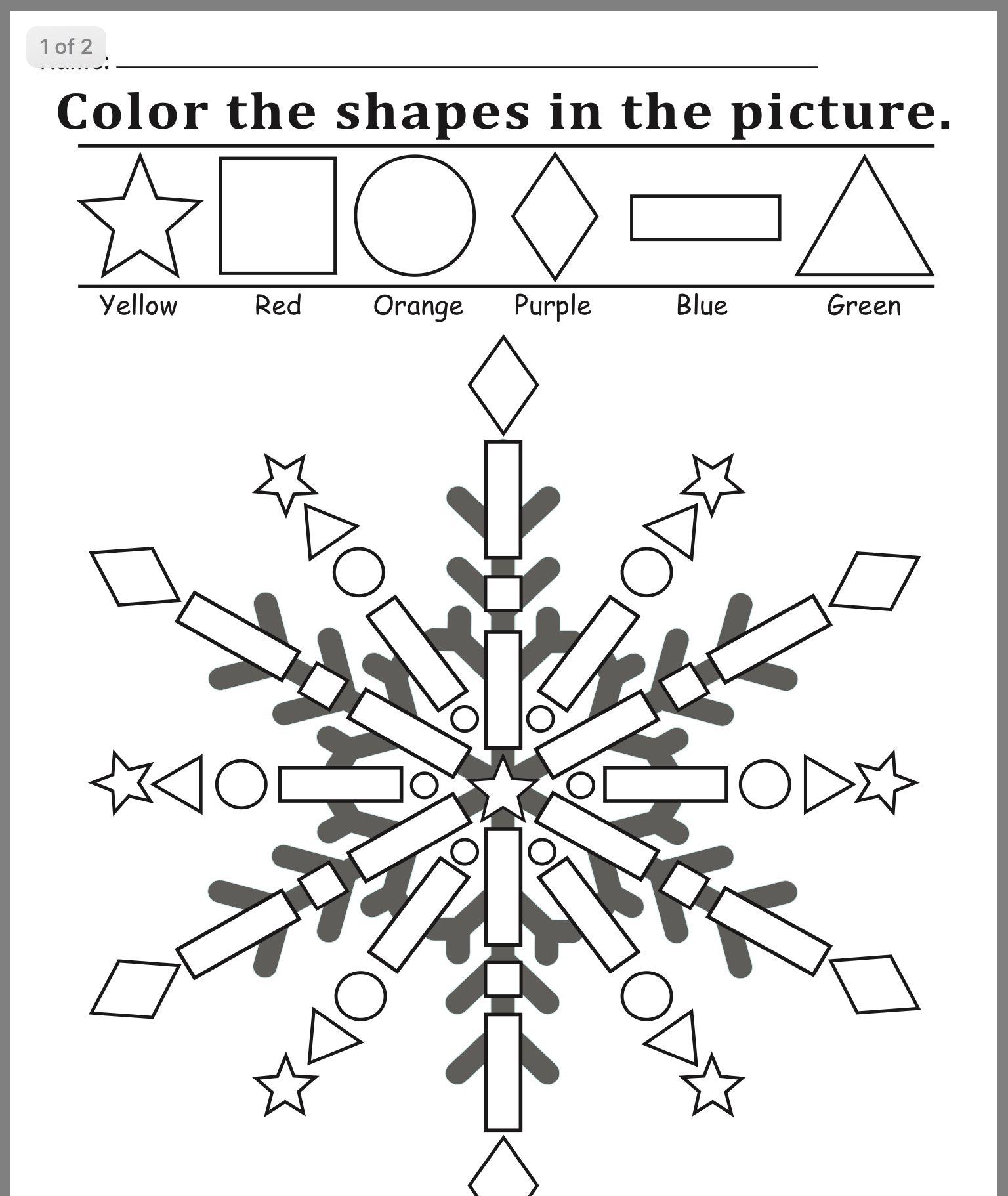 Pin By Shao Chun Cheng On Posao Winter Preschool Winter Kindergarten Shapes Worksheets [ 1822 x 1536 Pixel ]
