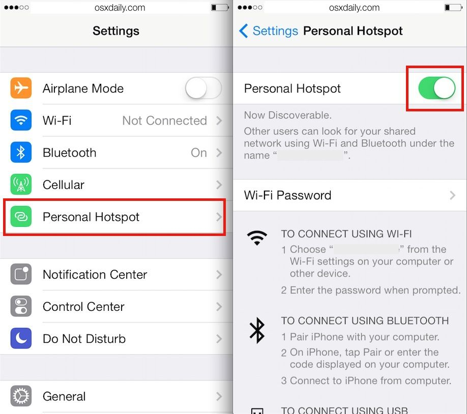 How To Use Personal Hotspot On Iphone Ipad To Share Its Internet