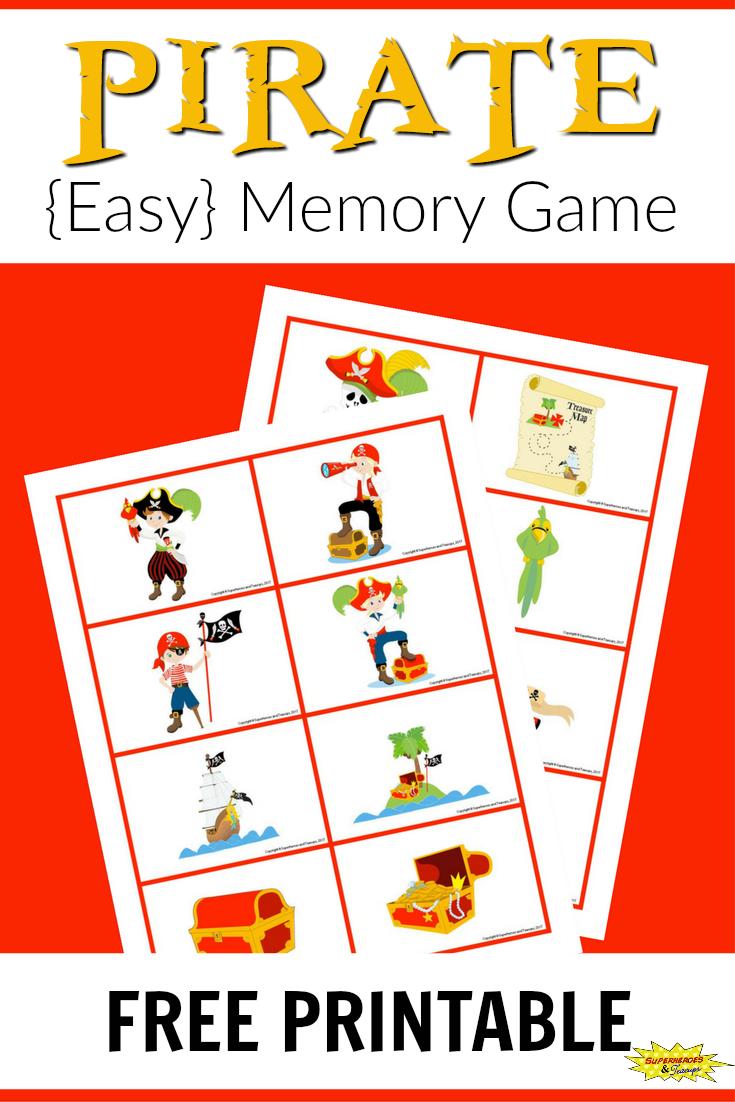 Pirate Memory Game Free Printable Memory Games Pirate Games For Kids Pirate Activities [ 1102 x 735 Pixel ]