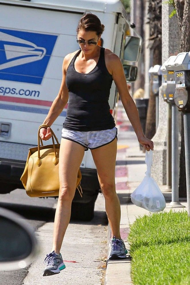 Teri Hatcher - Leggy in Shorts Out in Los Angeles ...