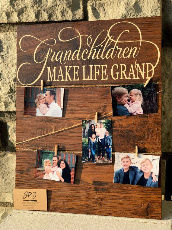 Grandchildren Make Life Grand Wood Sign - Gift for Grandparents Wood Sign - Gifts for Grandparents - Personalized Gifts #bestgiftsforgrandparents