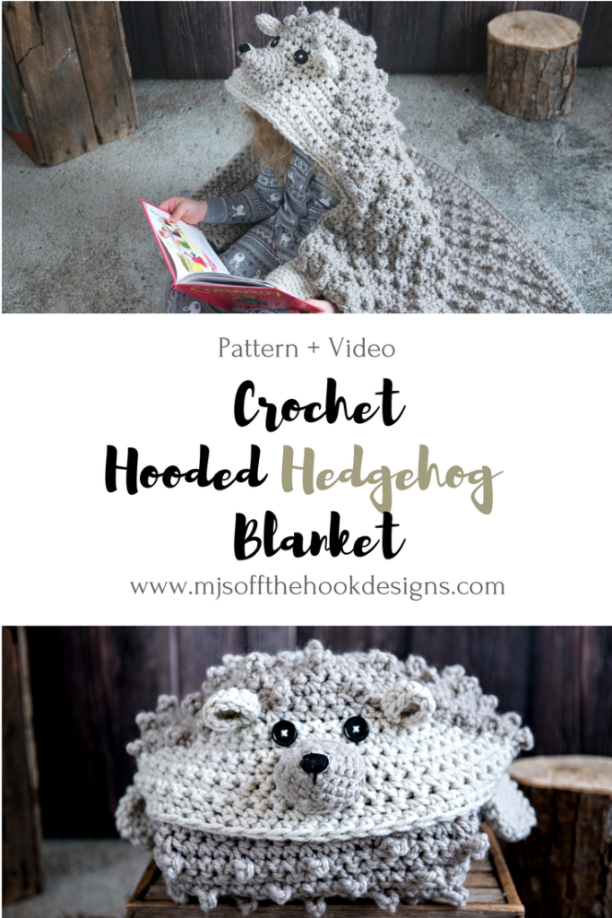 How to Crochet a Cuddly Hedgehog Blanket | Crochet Slippers, hats ...