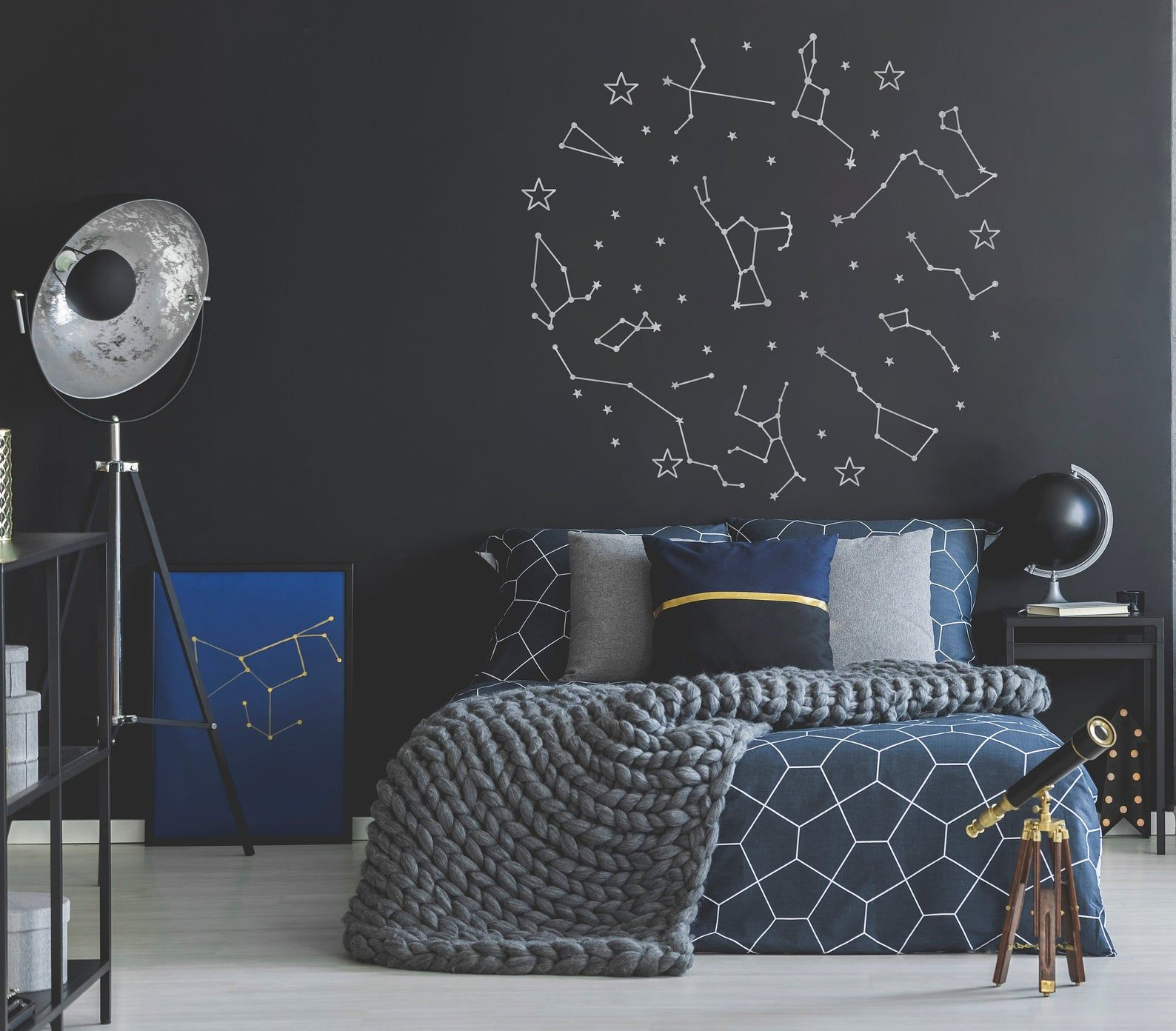 Constellation Wall Decals Nursery Wall Decal Outer Space Etsy Outer Space Room Stylish Bedroom Design Meditation Room Decor