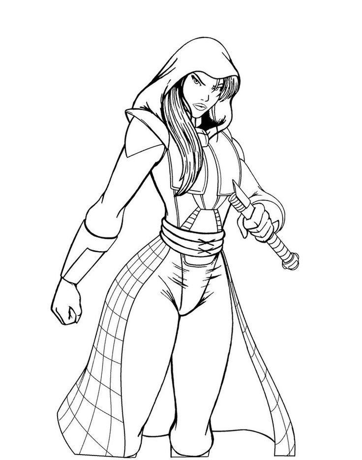 star wars women coloring pages