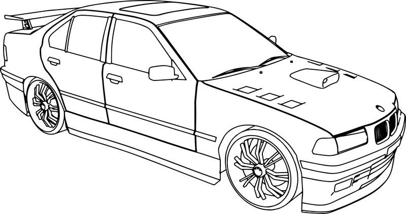 Bmw 325i Tuning Sport Car Coloring Page Sports Coloring Pages Cars Coloring Pages Coloring Pages