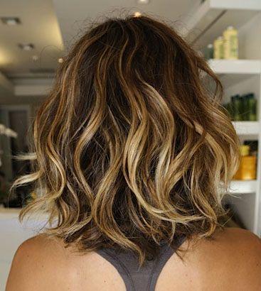 dark blonde wavy beach bouncy short hair cut style - Google Search