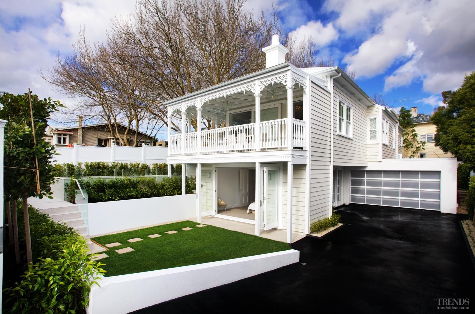 New villa with traditional weatherboard exterior and for New zealand house design
