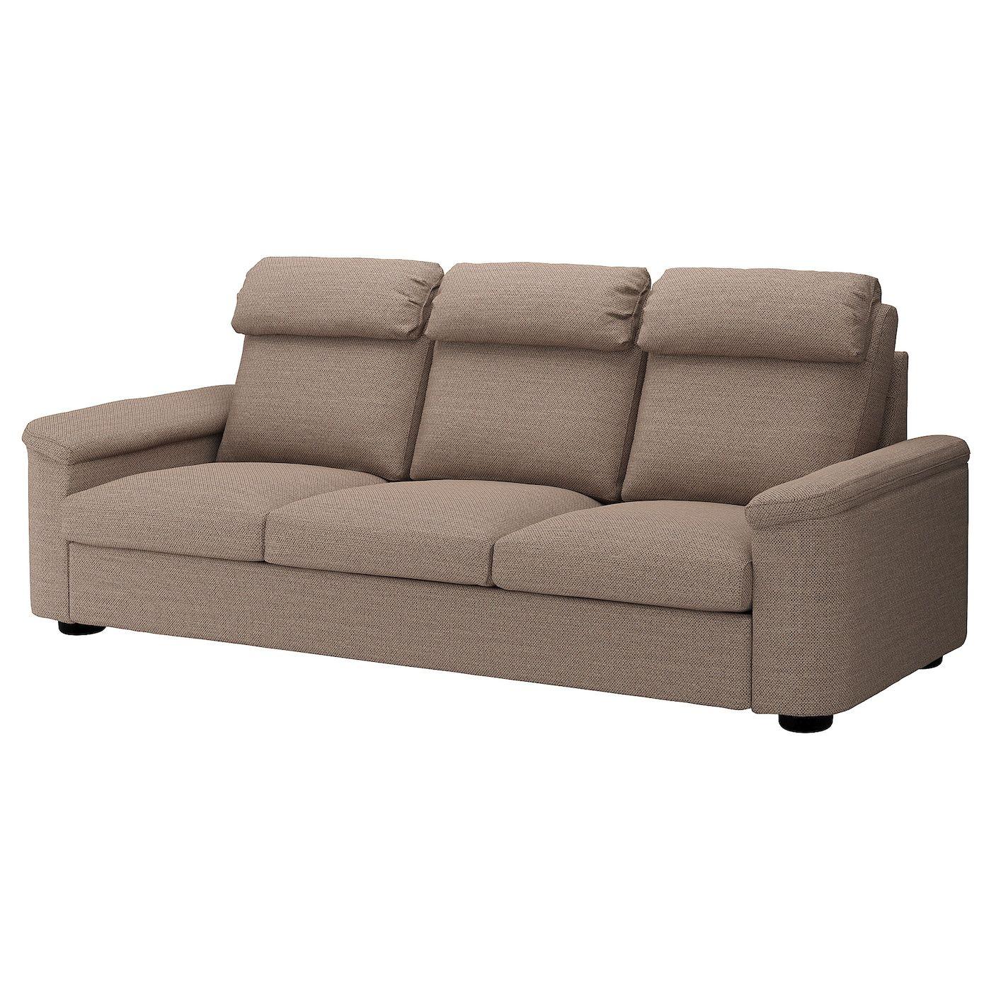 Lidhult Sofa Lejde Beige Brown Sofa Sofa Frame Ikea