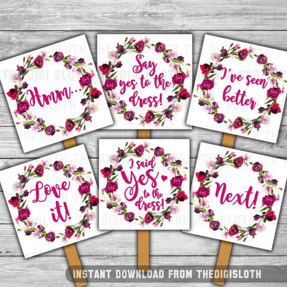 Say Yes To The Dress Wedding Ping Paddle Choosing
