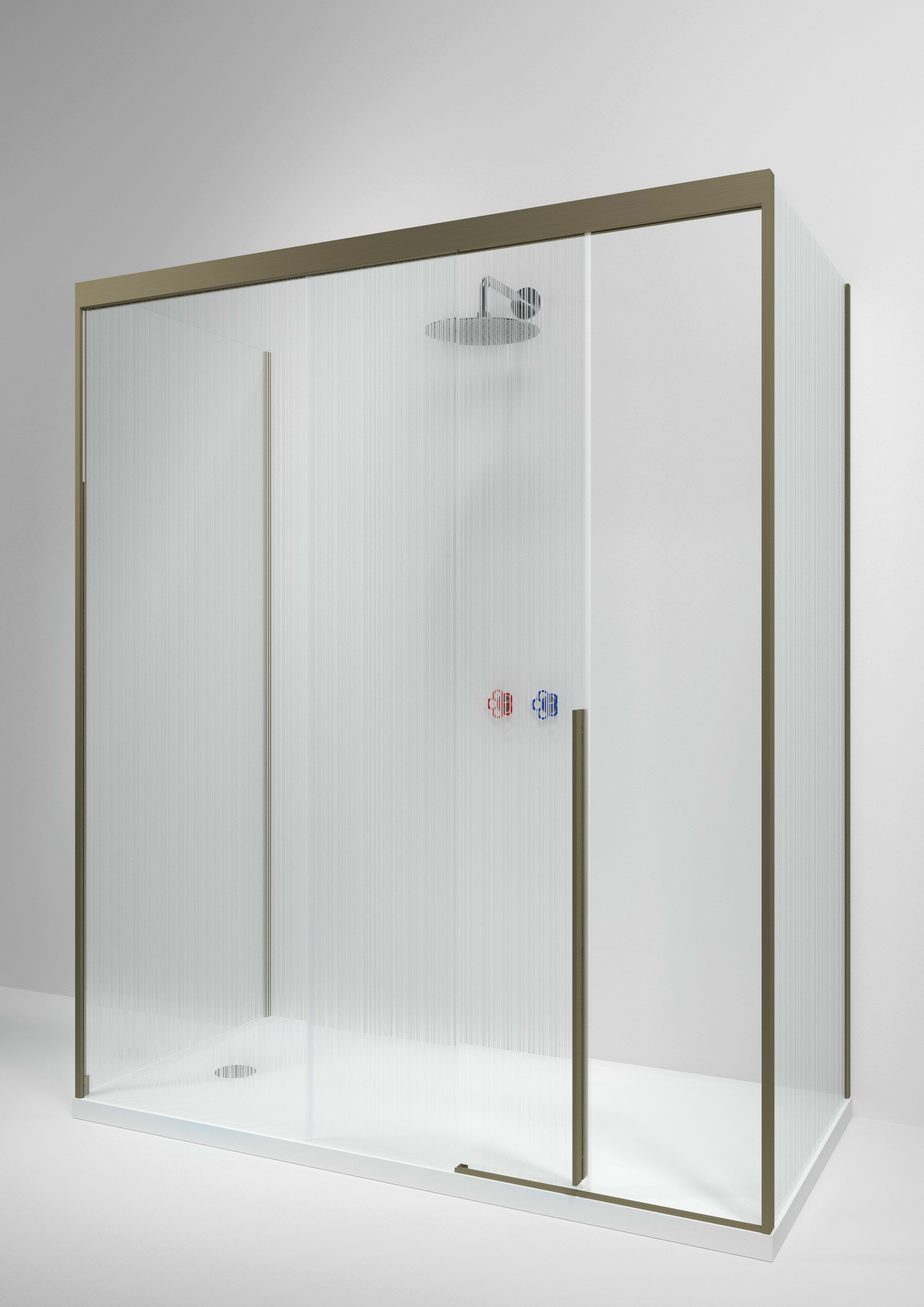 Rectangular glass shower cabin with sliding door SLIDING by Boffi ...