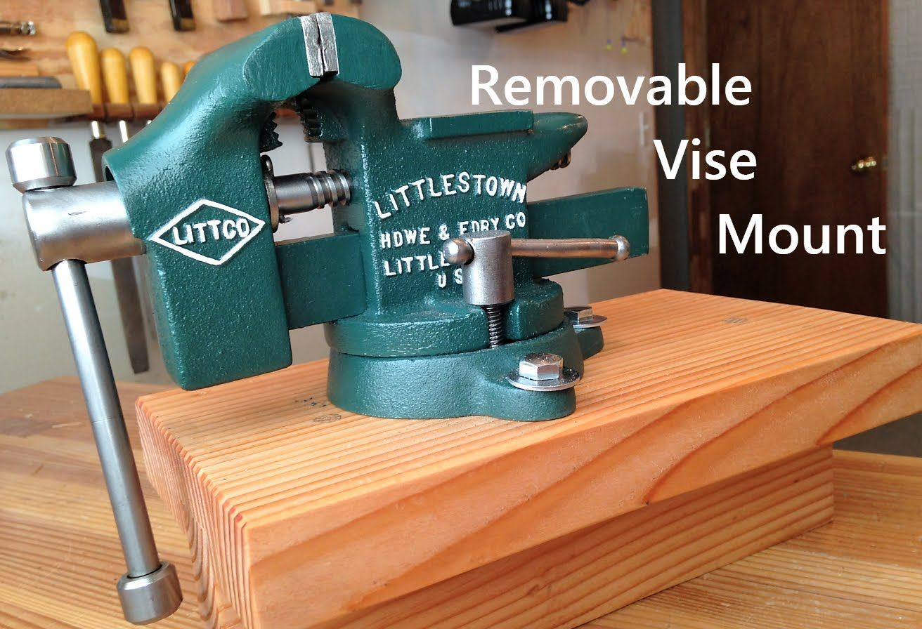 Excellent Removable Bench Vise Mount In 2019 Workbench Vise Bench Machost Co Dining Chair Design Ideas Machostcouk