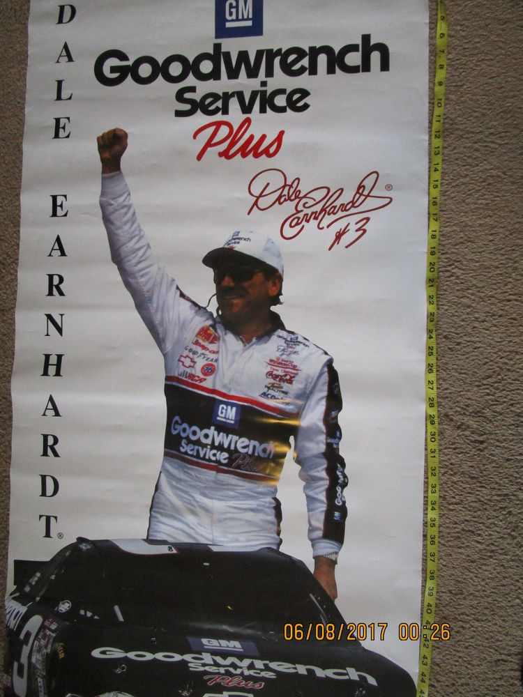 Dale Earnhardt 26 X 58 Vinyl Banner Poster Goodwrench 3 Dale Sr Nascar Racing Nascar Racing Vinyl Banners Dale Earnhardt