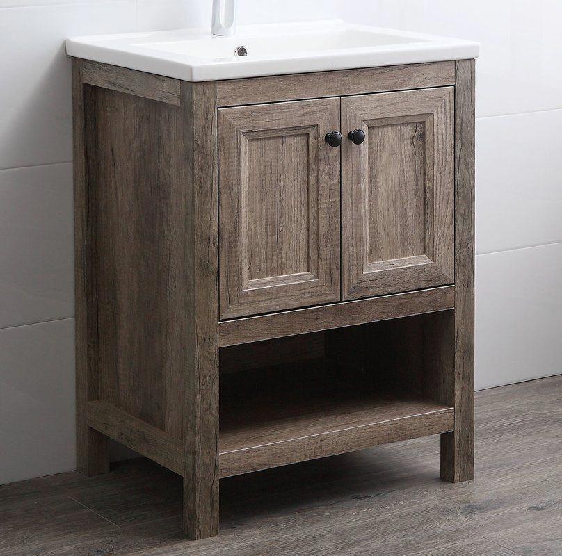 Nicholle 24 Single Bathroom Vanity Set Single Bathroom Vanity Rustic Bathroom Vanities 24 Inch Bathroom Vanity