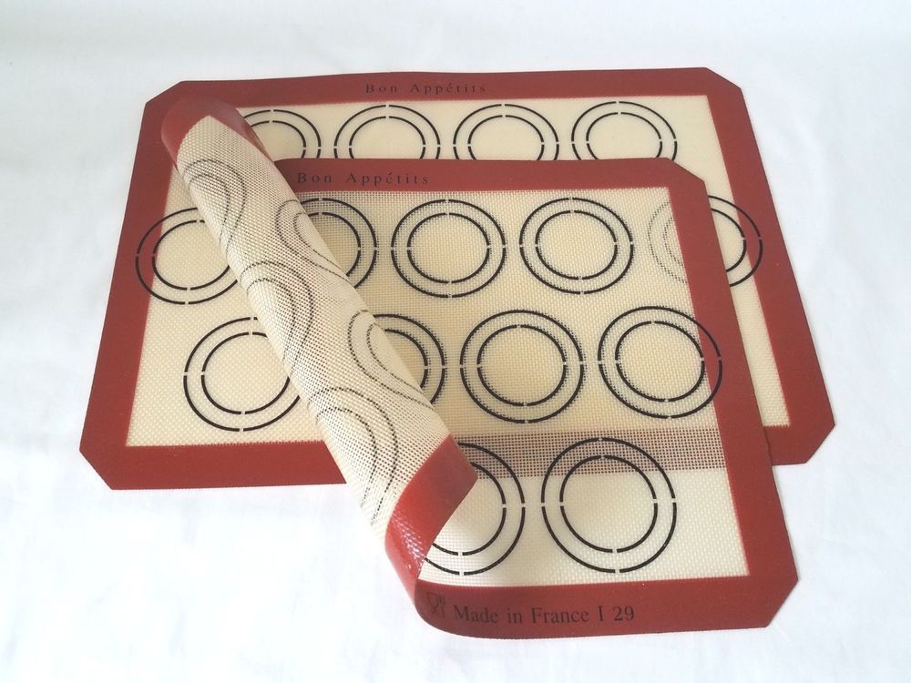Details About Silicone Baking Mat Set Of 2 Fits 13 X18 Cookie