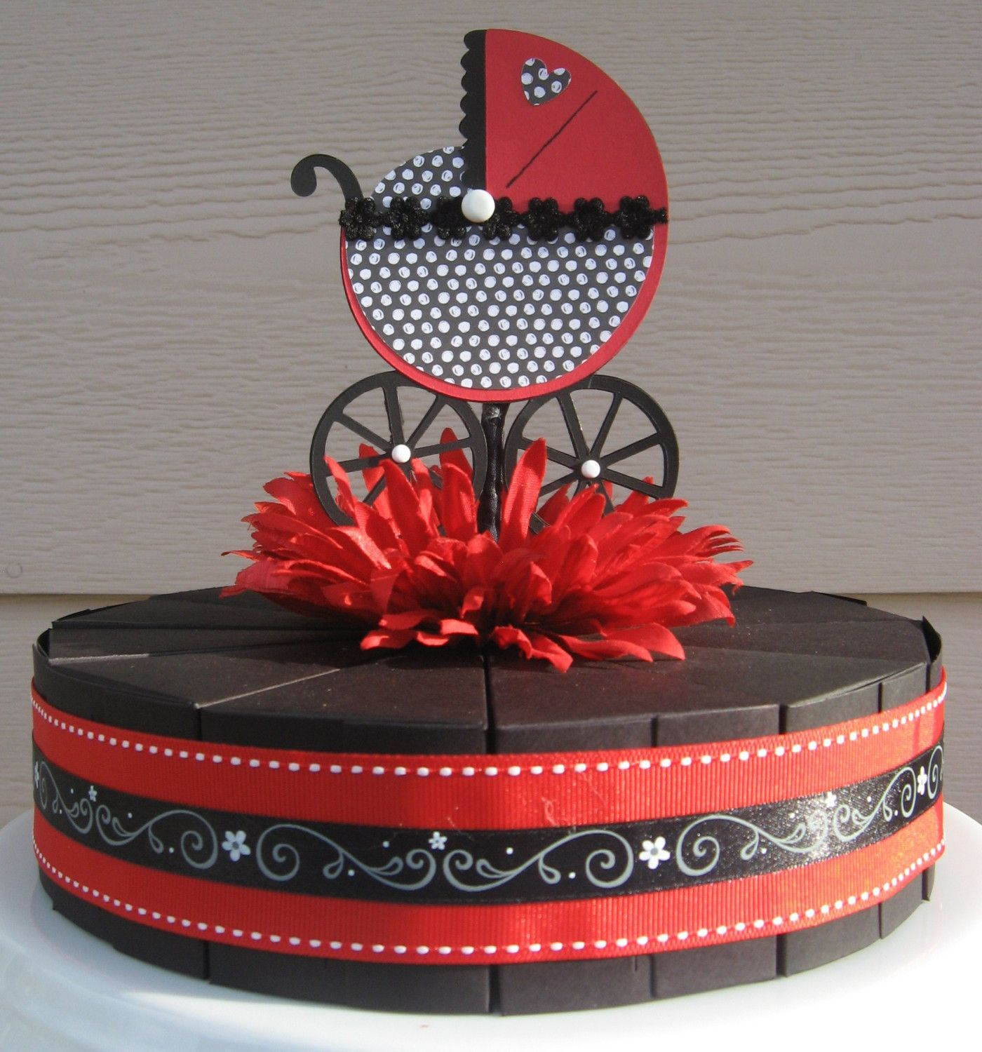 Red Black And White Baby Shower Ideas Elegant Party Favor