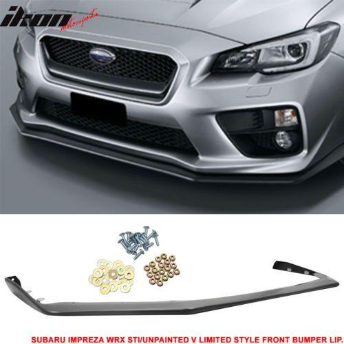 Details About Fits 15 19 Subaru Wrx Sti Oe Style V Limited Jdm Front Bumper Lip Pp Wrx Subaru Wrx Subaru Wrx Sti