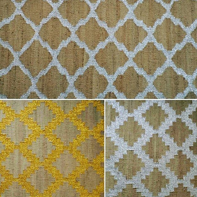 Hemp Flatweave Rugs With Gold And Silver Thread Work Can