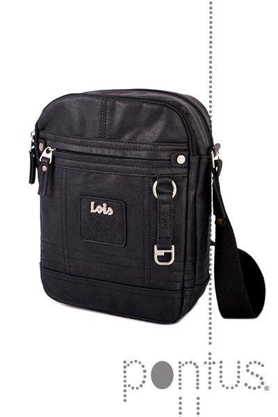 Bolsa tiracolo Lois legend 44326 20x26x6cm preta | JB
