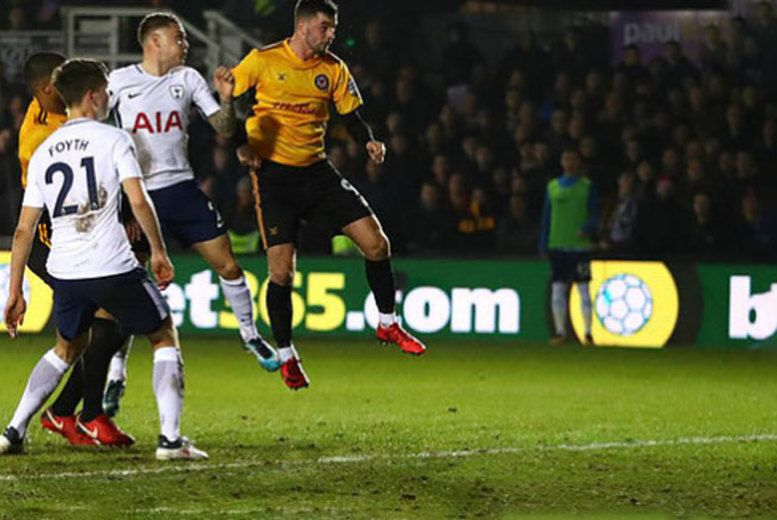 Discount FA Cup Tottenham vs. Newport County with Stay - Last Minute Offer! for just £79.00 Where: London.   What's included: An overnight London stay with Premium ticket to see Tottenham Hotspur vs. Newport County play in the FA cup.   Accommodation: Stay in a selection of lovely hotels in central London or Wembley.   Ticket: Premium ticket includes lounge access before and after games, food...