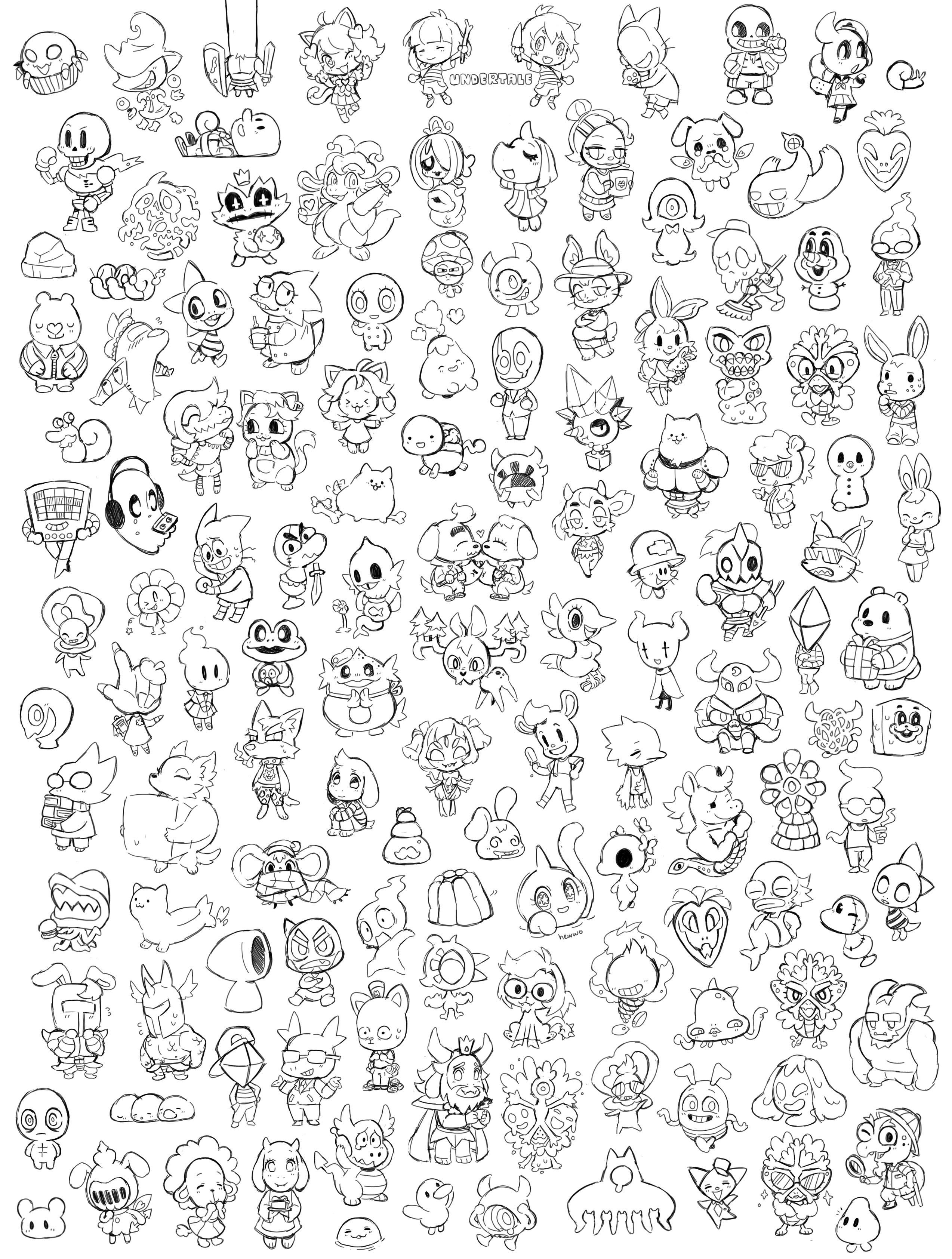 Coloring pages undertale -  Undertale 22 Coloring Pagesfun