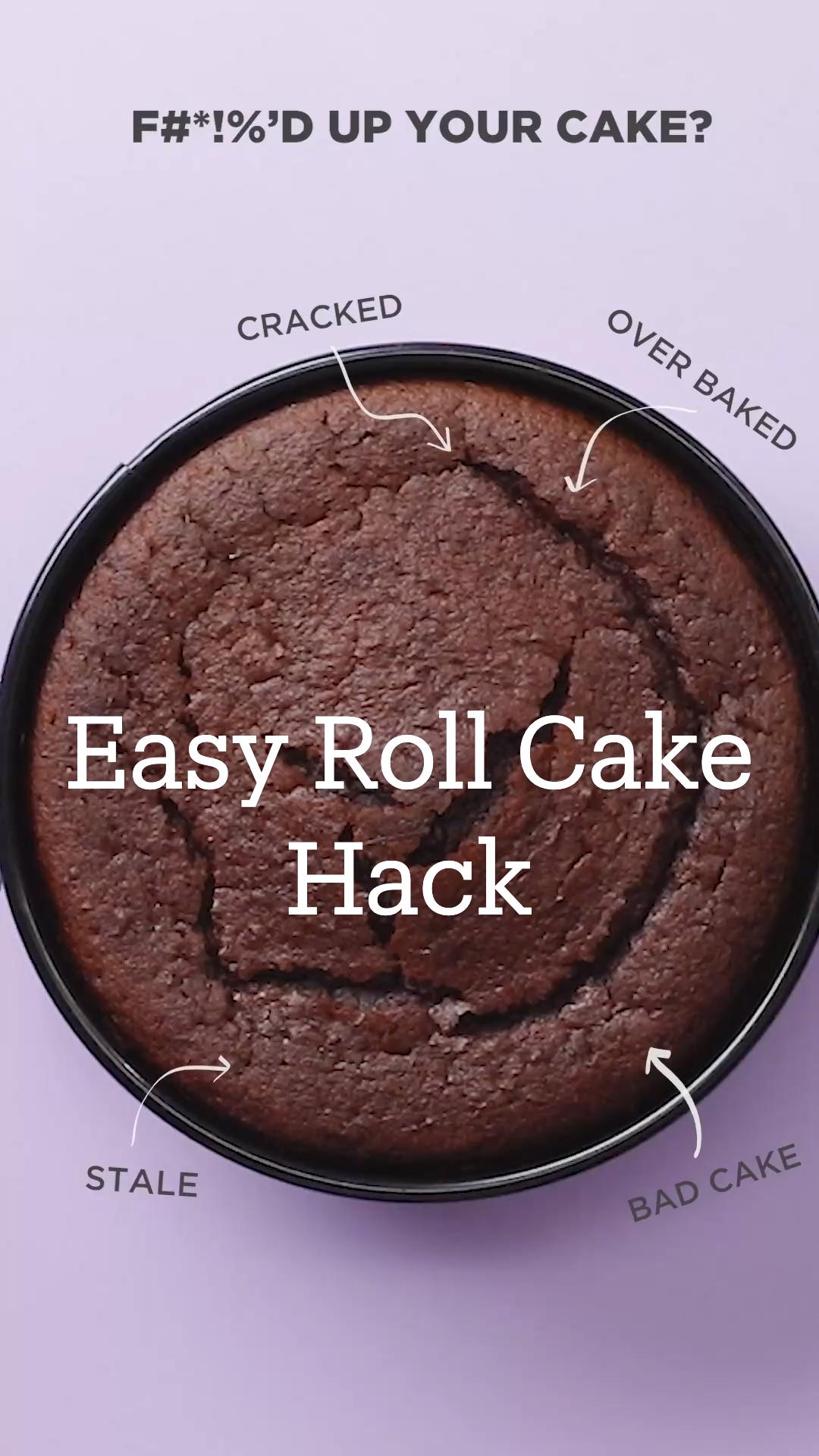 Easy Roll Cake Hack