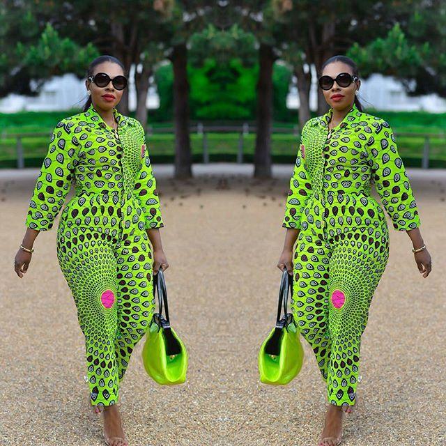 ef015b90218 Mind Blowing Ankara Jumpsuits Styles for Beautiful African Ladies - DeZango  Fashion Zone