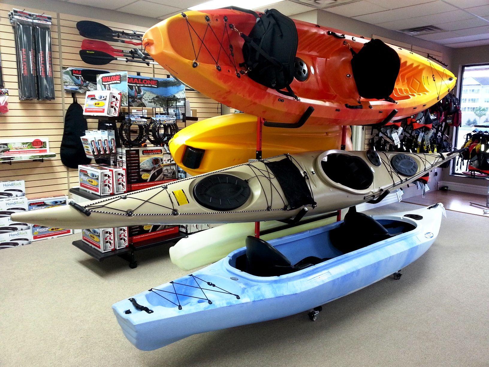 Inside our Orillia KayakityYak location Kayaks for
