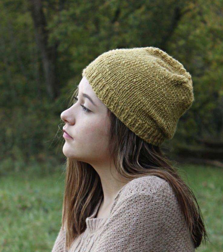 Hipster Beanie Hat Knitting Pattern Knitting Patterns ...