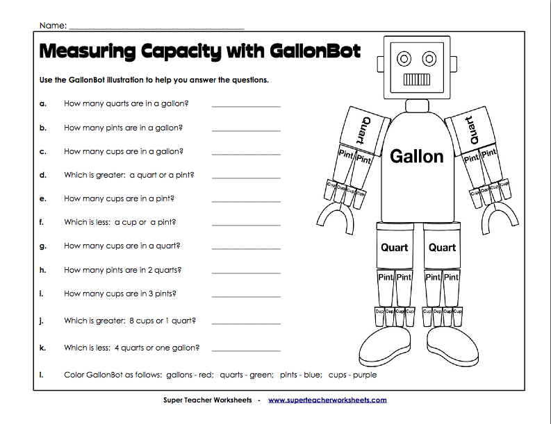 Measuring Capacity with GallonBot (W13) | For my Classroom ...