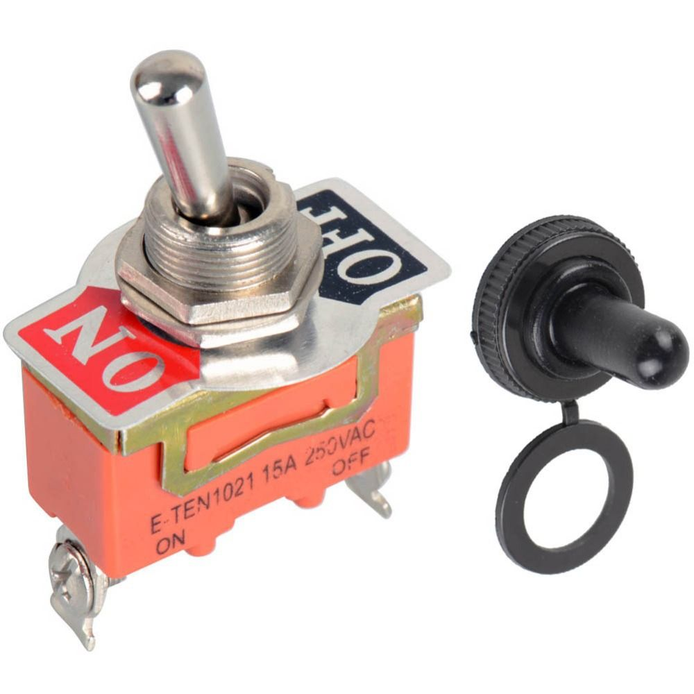 High Quality1pc New Quality 15a 250v Spst 2 Terminal On Off Rocker Switch X2 With Red Green Indicator Lamps Toggle Ve186 P