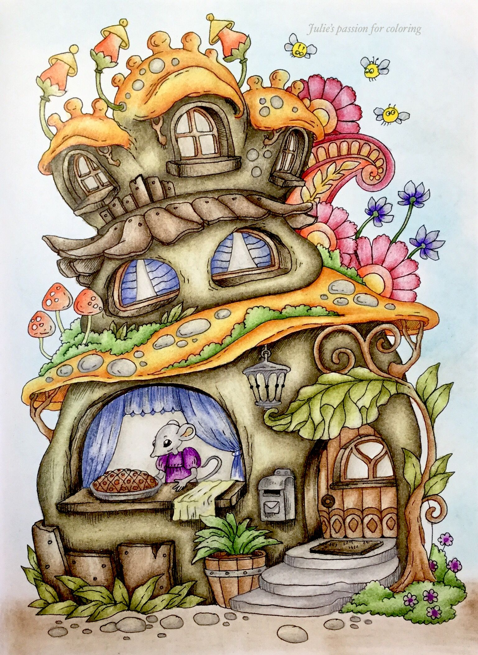 Nice little town 6 by Tanya Bogema Colored by Julie's