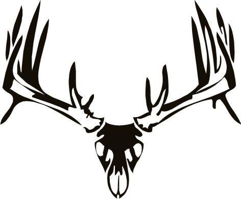 tribal whitetail deer   Deer Skull Wall Decal 2   TATTOO ...