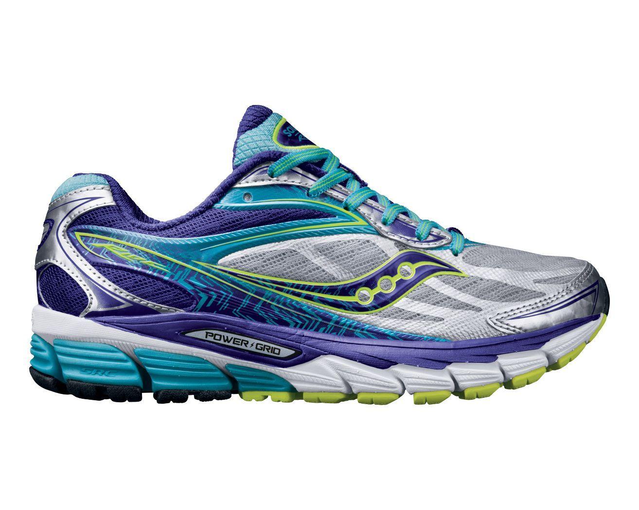 Womens Shoes Saucony Ride 8 Silver/Purple/Blue