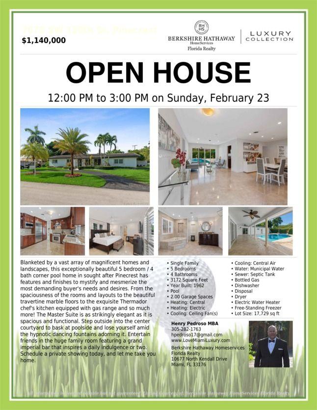 Open House in 2020 Open house, Luxury florida, Miami
