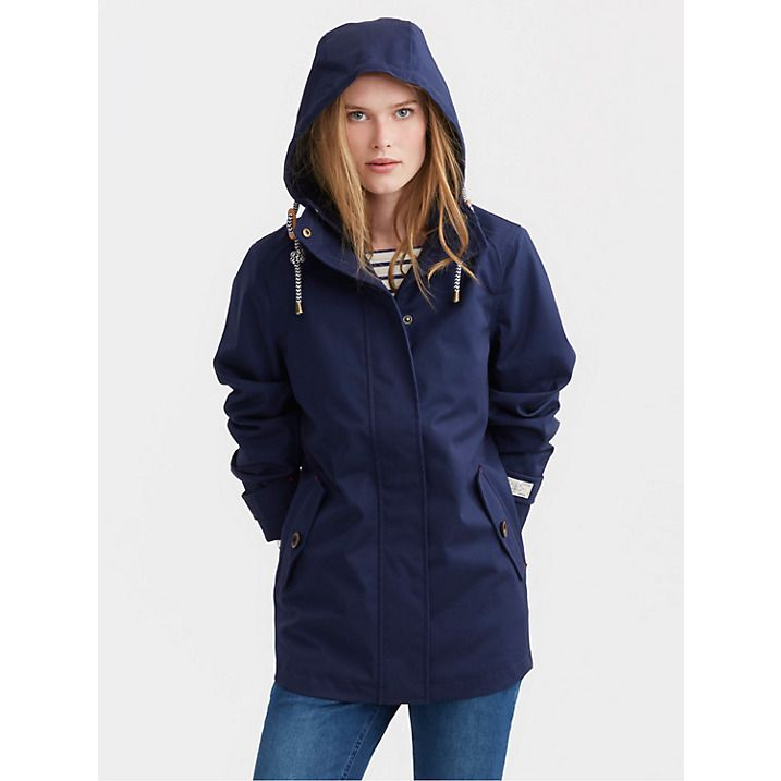 Buy Joules Right as Rain Coast Waterproof Jacket, French Navy, 8 ...