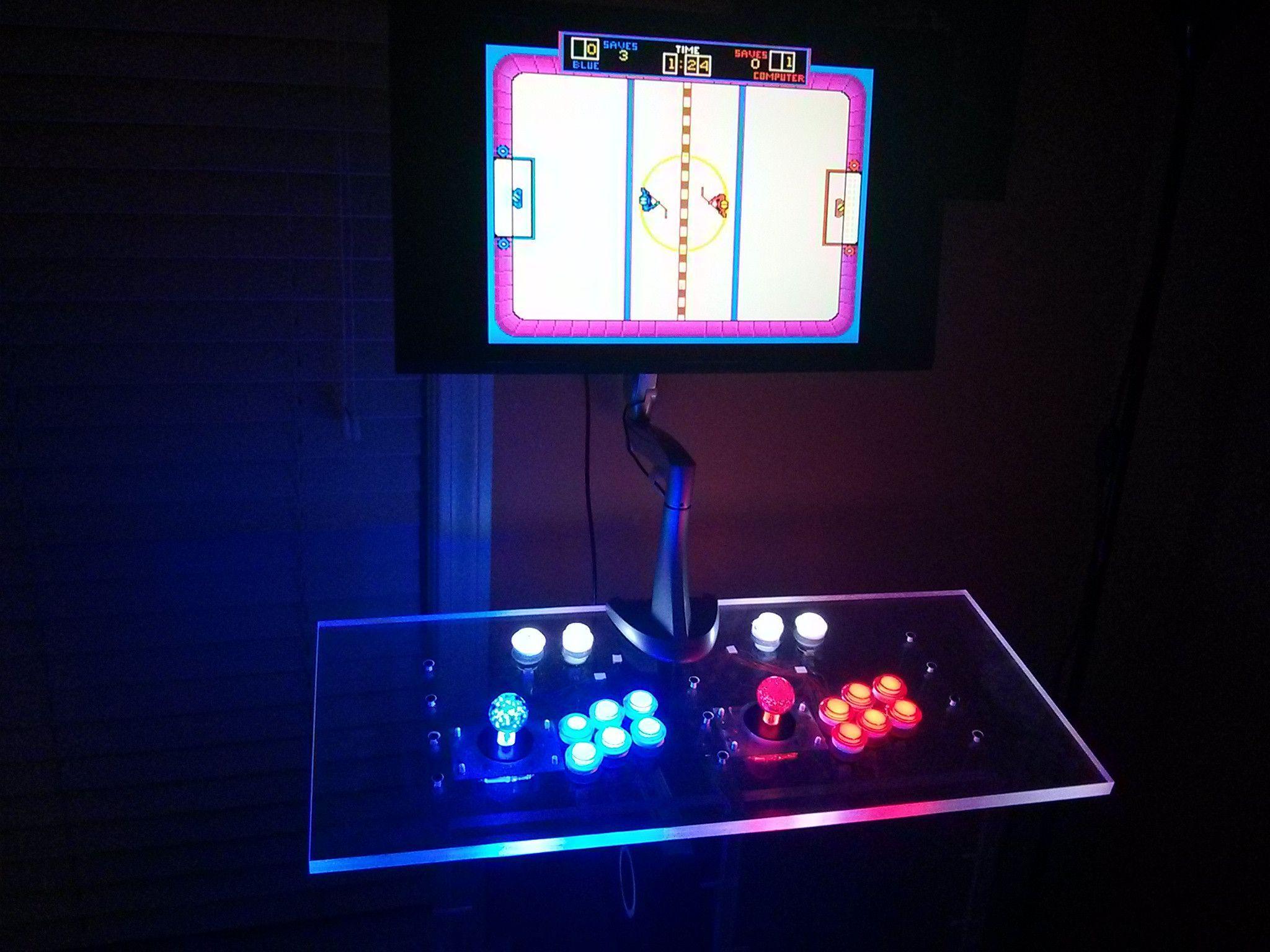 Clear Plexiglass Arcade Controls via Reddit user