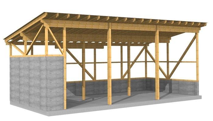 Werkplanung Einer Landwirtschaftlichen Maschinenhalle Abbund Vor Ort Carport Selber Bauen Holzbau Gerateschuppen Selber Bauen
