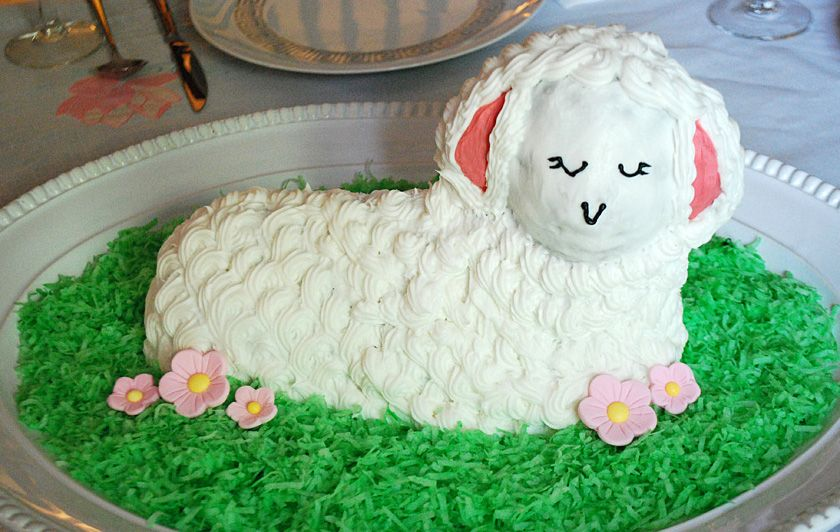 How To Decorate An Easter Lamb Cake With Images Lamb Cake