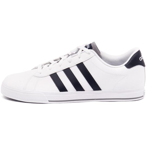 Adidas Neo Men's Daily White/Navy/Grey ($56) ❤ liked on Polyvore