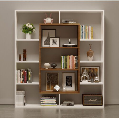 Cilegon Bookcase 17 Stories Bookcase Design Diy Bookshelf Design Bookshelves Diy