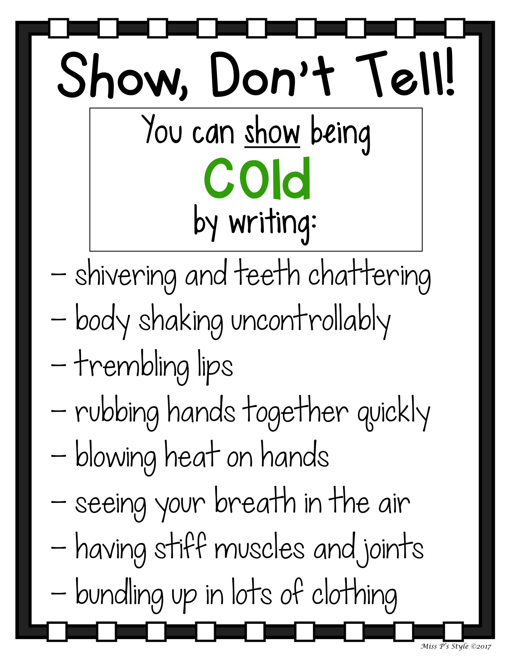 Show Don T Tell Charts