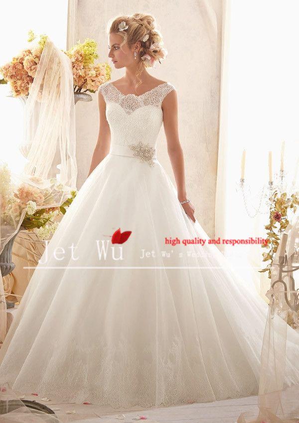 9347f6f8179 Pas cher 2014 mode nouveau design robe de bal style côté large bretelles  corset de dentelle sur bouffante en organza jupe robe de mariage robe jet  9013