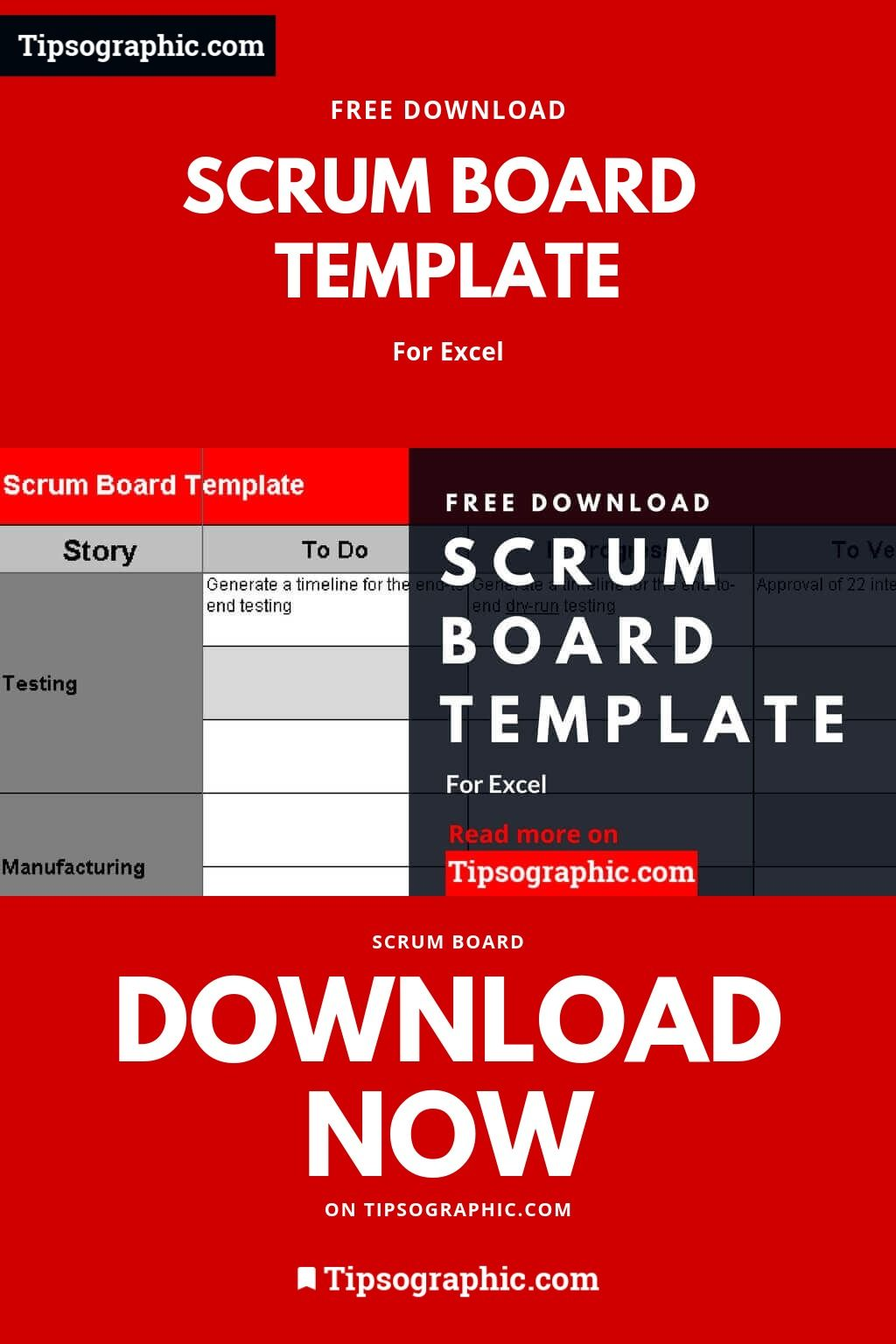 Scrum Board Template For Excel Free Download Tipsographic Scrum Board Agile Project Management Templates Scrum