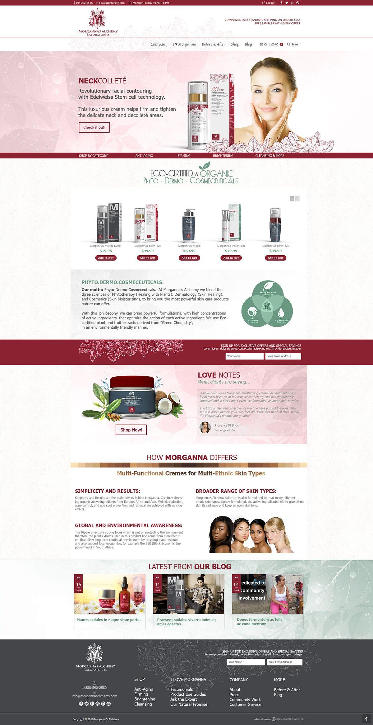 Morganna S Alchemy Skin Care Website Portfolio Illumination Consulting Skin Care Face Products Skincare Beauty Website