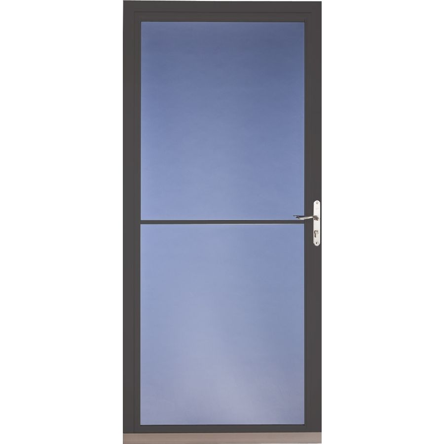 Pella Brown Full View Tempered Glass Aluminum Retractable Screen